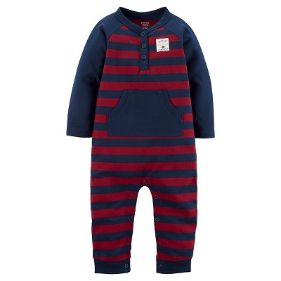 Just One You™Made by Carter's® Baby Boys' Stripe Jumpsuit 3M - Navy/Red