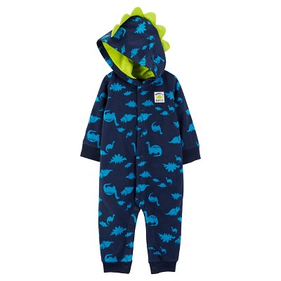 Just One You™Made by Carter's® Baby Boys' Hooded Dino Jumpsuit NB - Blue