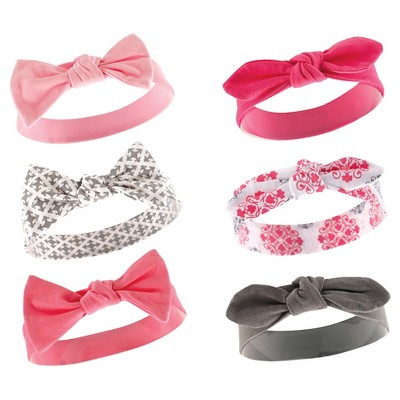Yoga Sprout Baby Girls' 6 Pack Headbands - Berry 24M