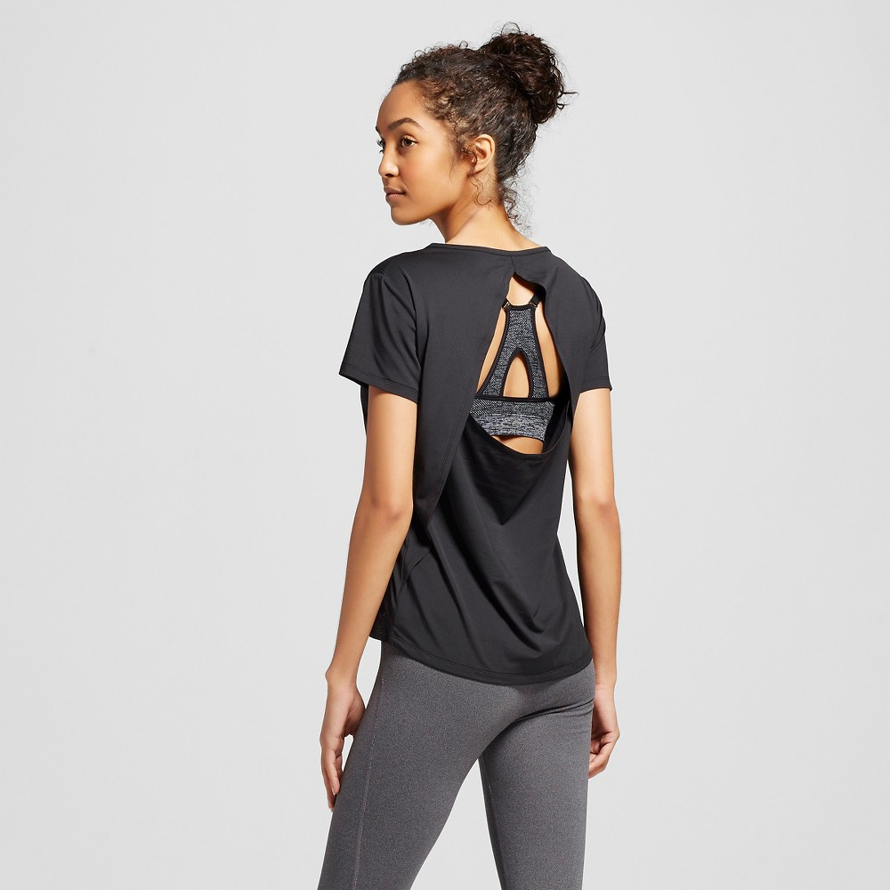C9 Champion Women's Cut Out Fashion Tee - Black M, Size: Medium, Ebony