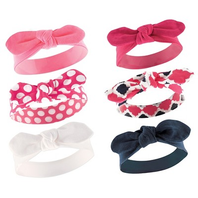 Yoga Sprout Baby Girls' 6 Pack Headbands - Bird 0-12M