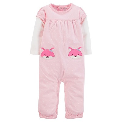 Just One You™Made by Carter's® Baby Girls' Dot Foxes Jumpsuit NB - Pink