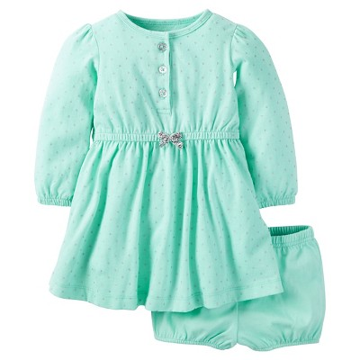 Just One You™Made by Carter's® Baby Girls' Cotton Dress 3M - Mint