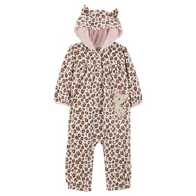 Just One You™Made by Carter's® Baby Girls' Hooded Jumpsuit NB - Animal Print