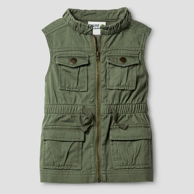 Baby Girls' Fashion Vest - Green 12M - Genuine Kids from Oshkosh™