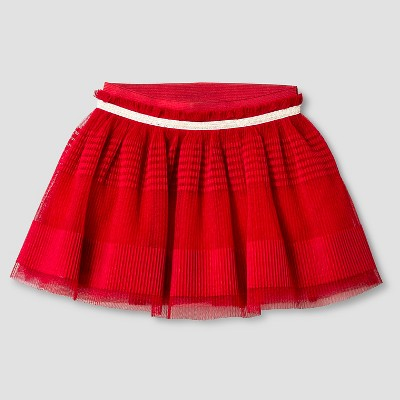 Baby Girls' Textured Mini Skirt Red 12M - Genuine Kids from Oshkosh™