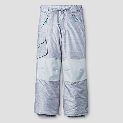 C9 Champion® Girls' Snow Pant Printed Gray - S