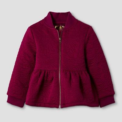 Baby Girls' Peplum Bomber Jacket - Red 12M  - Genuine Kids from Oshkosh™