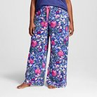 Women's Plus Size Pajama Pant Printed Floral Print 1X - Gilligan & O'Malley™