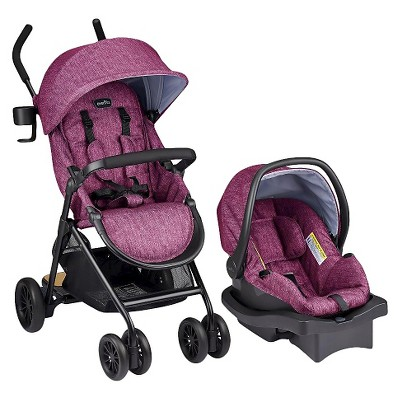Evenflo Sibby Travel System Raspberry