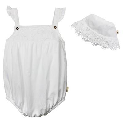 Burt's Bees Baby™ Crochet Bubble & Bucket Hat - White 12M