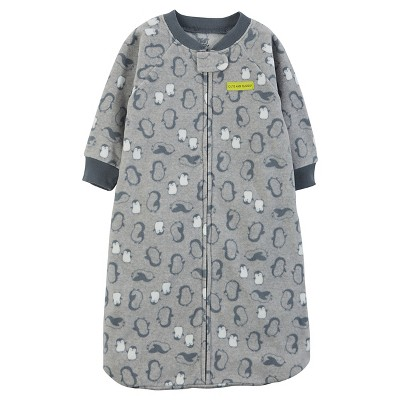 Just One You™Made by Carter's® Baby Boys' Grey Penguin Microfleece Sleepbag