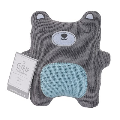CoCaLo Knitted Bear Toy - Gray/Blue