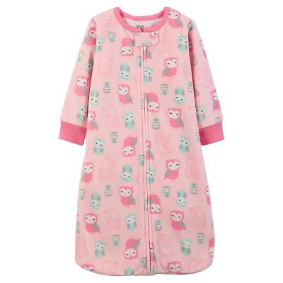 Just One You™Made by Carter's® Baby Girls' Pink Owl Microfleece Sleepbag