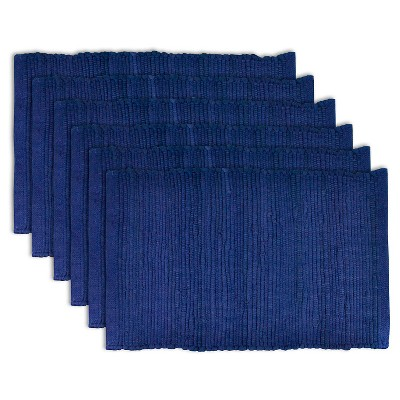 Chindi Placemats - Set of 6 - Nautical Blue