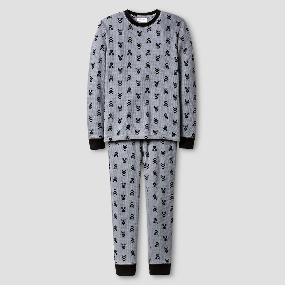 Cat & Jack Boys' Skull Thermal Underwear Set - Gray L, Boy's, Size: Large, Grey