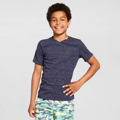 Boys' Heathered V-Neck T-Shirt - Cat & Jack™