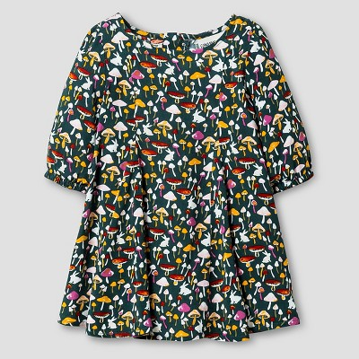 Baby Girls' A Line Mushroom Print Dress Green 12M - Genuine Kids from Oshkosh™