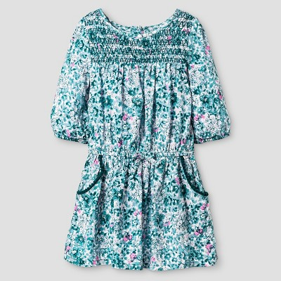 Baby Girls' A Line Dress Blue 12M - Genuine Kids from Oshkosh™