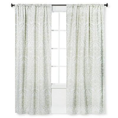 "Loya Lined Curtain Panel Olive & Cream (42""x84"") - Bedeck 1951®"