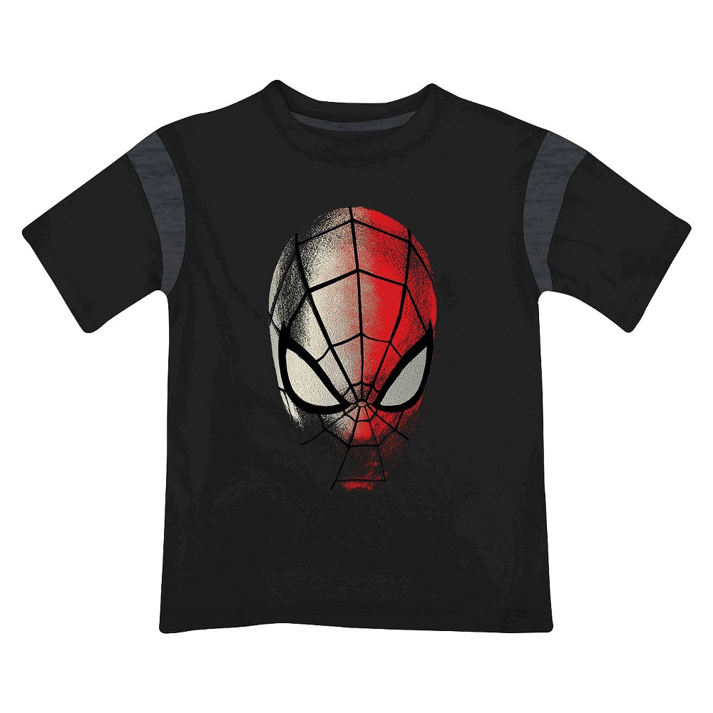 Marvel Boys' Spiderman T-Shirt Black XL, Boy's