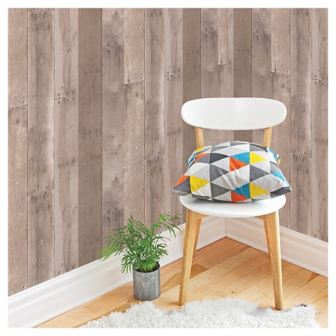 Devine Color Reclaimed Wood Peel Stick Wallpap Target