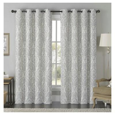 Longview Jacquard Grommet Curtain Panel - Gold (54x84)