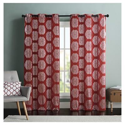Mayra Curtain Panel Pair - Brick (38x84)