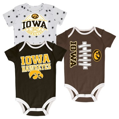 NCAA Iowa Hawkeyes Boys' Bodysuit set - 0-3 M