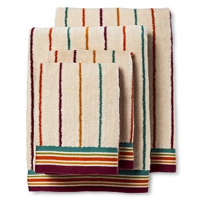 Ila Striped Bath Towel Set of 4 Magenta - Bedeck 1951®