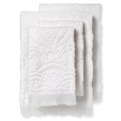 Montfort Textured Bath Towel Set of 4 White - Fable®