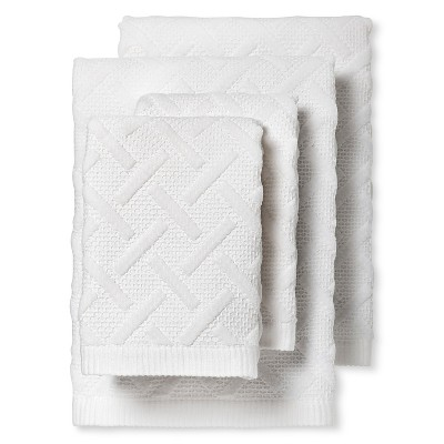 Vienne Textured Bath Towel Set of 4 White - Fable®