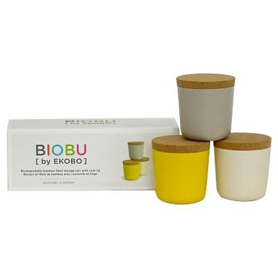 Biobu by Ekobo Gusto 8oz Storage Jars - Set of 3