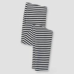 Girls' Leggings Cat & Jack™ - Black & White Stripe