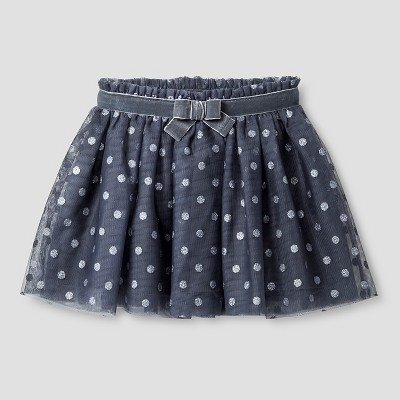 Baby Girls' Polka Dotted Tutu Skirt - Gray 12M - Cat & Jack™