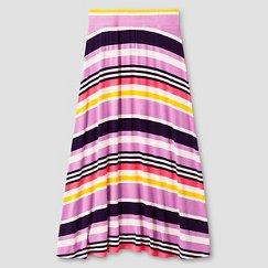 Girls' Striped Maxi Skirt Cat & Jack™ - Purple