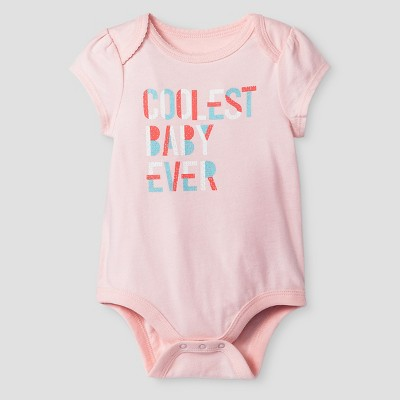 Baby Girls' Short-Sleeve Coolest Baby Ever Bodysuit Baby Cat & Jack™ - Pink 0-3M