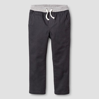 Toddler Boys' Chino Pant Cat & Jack™ - Charcoal 2T
