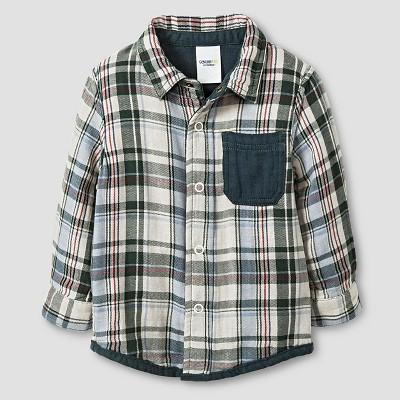 Baby Boys' Button Down Shirt Polished Leaf 18M - Genuine Kids™ from Oshkosh®