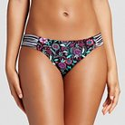 Women's Hipster Bikini Bottom - Black Floral Print -  M - Xhilaration™