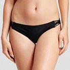 Women's Strappy Hipster Bikini Bottom - Black -  M - Xhilaration™