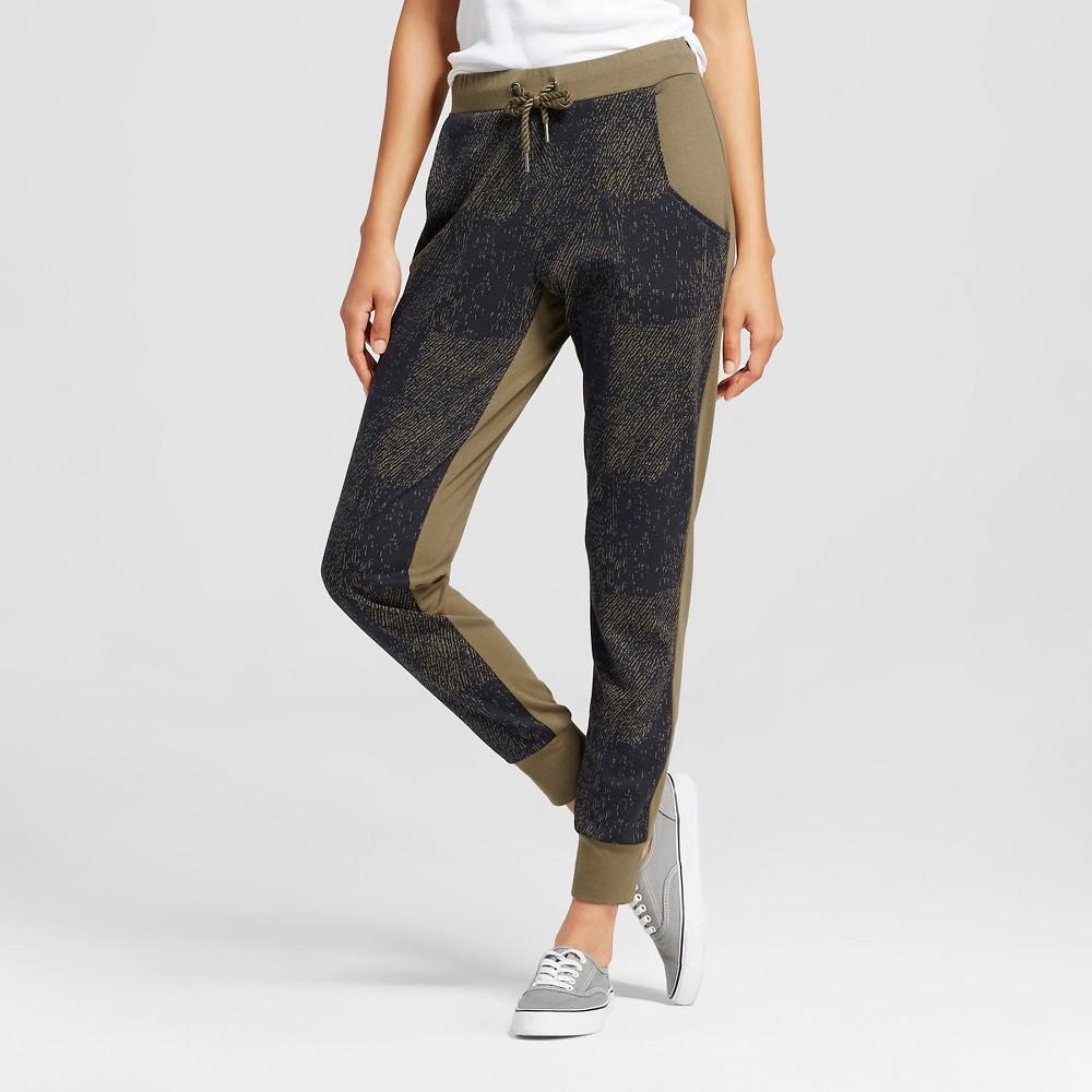 Women's Knit Jogger Pant - Sketch Print Camo Green/Black XS - C9 Champion, Camouflage Green