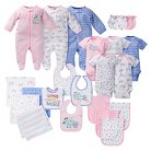 Gerber® Baby Girls' 23 Piece Owl Layette Gift Set – Pink 0-3M