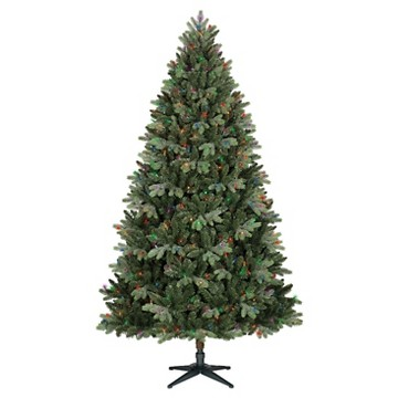 Philips 7.5ft Pre-Lit Artificial Christmas Tree Balsam Fir - Multicolored Lights