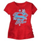 Baby Girls' Supergirl Graphic Tee Red - 12M