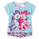 Hasbro My Little Pony Girls' Floral  Back Tee - Aqua XS