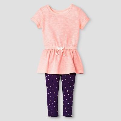 Baby Girls' Peplum Top and Bottom Legging Blue 18M - Cat & Jack™