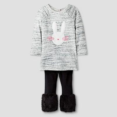 Baby Girls' 2-Piece Set - Cream 12M - Cat & Jack™