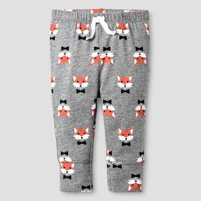Baby Fox Print Jogger Pant Baby Cat & Jack™ - Grey 3-6M
