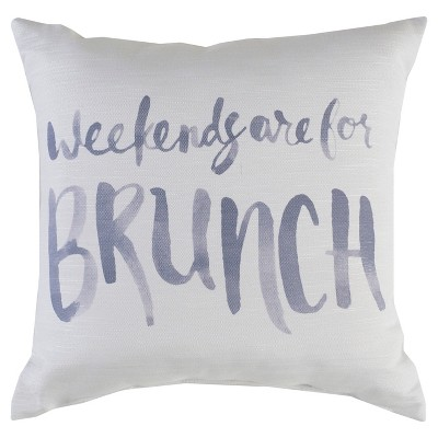 "Decorative Pillow Brunch Grey (18""x18"") - Surya"